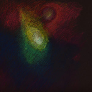 comet-2-oil-pastel-on-tinted-paper