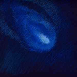 comet-oil-pastel-on-tinted-paper