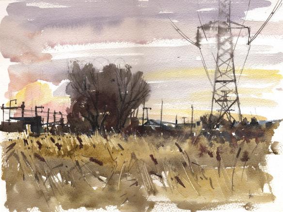 rainham-marshes-watercolour-05-01-14